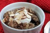 Quinoa and barley breakfast porridge
