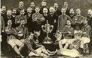 Aston Villa with their trophy
