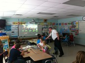Mr. Baumann's Class Skyping with a fifth grade class in Fall Creek, WI