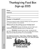 Thanksgiving Box Sign-up