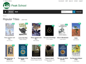 Peak School Library e-book platform is up and running