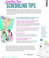 Jewelry Bar Scheduling Tips