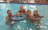 In The Hotel Pool at Stoney Creek INN!