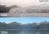 Glaciers Melting Over Time