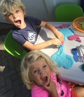 Showing their shark teeth!