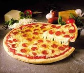 Our pizzeria sells the best pizza in town