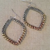 Raina Earrings - Mixed Metal