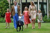 Dutch royal family with dog