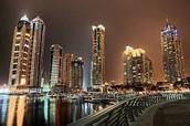 Dubai during the night