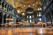 The Inside of the Hagia Sophia