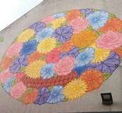 'Floral Skullbal' van Mark Goss