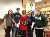 In the center, author, Jan McCormick Gangsei, Class of 1988