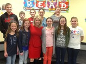 """Ms. Paolello had heard about our MES """"News You Can Use"""" broadcast and wanted to meet the crew."""