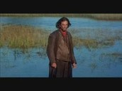 John Proctor standing in the middle of the swamp, clearly out of his mind.