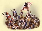 British and Patriots fighting