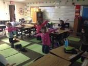 Yoga during recess