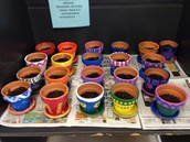 painted pots for Senior Citizens at St. Mary's home here in WH.