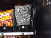 Black and white Cheetos
