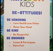 CLASSROOM EXPECTATIONS  POSTED IN THE CLASSROOMS.