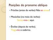 Pronomes Clíticos