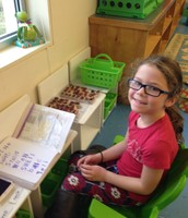 Julia stamping sight words