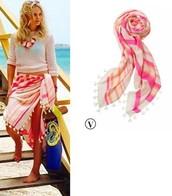 Pink Capri Scarf/Wrap