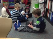 Enjoying the Ipads as part of our centers this week.