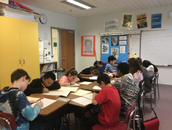 Students getting into their writing