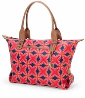 HOW DOES SHE DO IT BAG - Navy/Red Medallion