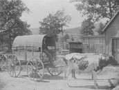 People loading the Wagons With The Archives