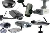 كما يوجد لدينا تركيب كاميرات مراقبة