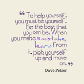 Dave Pelzer's inspiring words