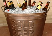 10$ buckets of domestic beer all day!
