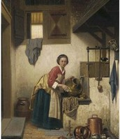 Charles Joseph Grips- A Sculley Maid (1866)