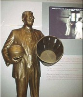 The Statue of James Naismith at The Basketball Hall of Fame