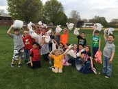 Look at all the trash we collected at the baseball fields!