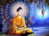 this is a lady practing buddhism
