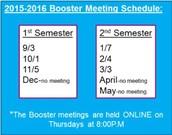 2015-2016 Booster Meeting Schedule