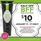 Our BFF (Best Face Forever) Facewash is on sale this week for $10!