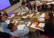 Fifth Grade POP Art Paintings