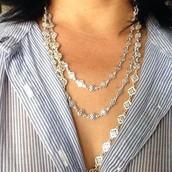 SOLD! Devon Layering Necklace - silver