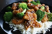 Chicken and Broccoli with with rice