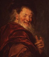 A painting of Democritus
