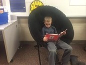 Will is relaxing with a good book!