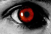 The man with red eyes