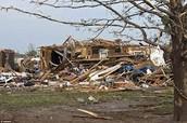 A house after a tornado