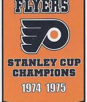 The Flyers won the Stanley Cup in 1974 and in 1975