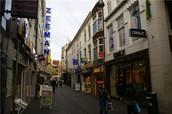 Winkelstraat in Brugge