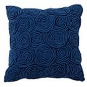 Rose Twist Pillow Cover, 16x16 Rose Twist Royal Navy