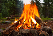 Campfires can start wildfires.